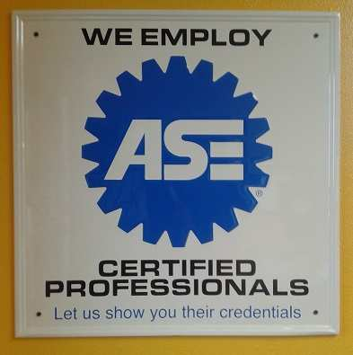 ASE Vehicle Repair Shops Credentials
