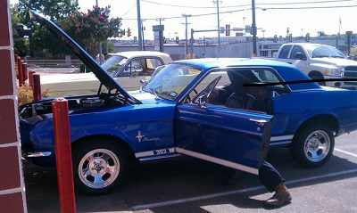 Car Repair on Ford Mustang Financed by CarCareOne Financing.