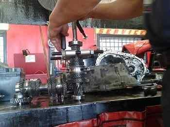 Car Transmission Mechanic Shop