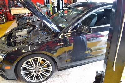 Engine Repair on Audi Car at Auto Service Experts