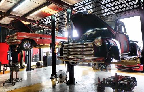 Scheduled Maintenance on 51 Chevy Truck Chevrolet Impala at Auto Service Experts