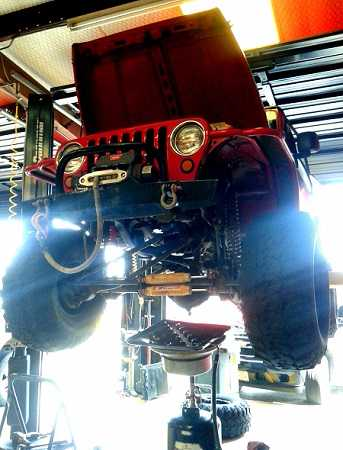 Transmission Service Fluid Drain Replacement on Jeep